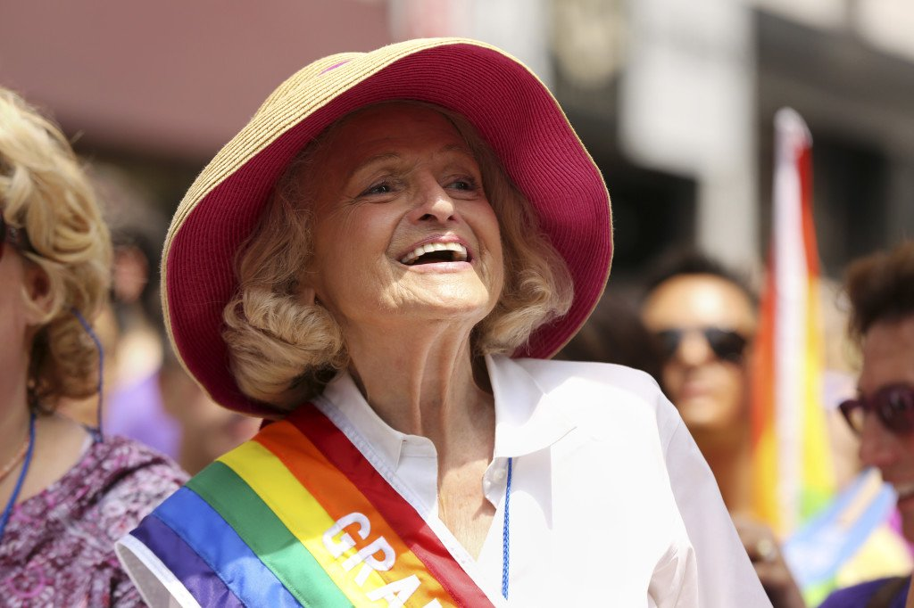 Image: Edith Windsor among the grand marshals during the annual gay pride march in New York.